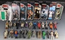 Collection of Star Wars toys