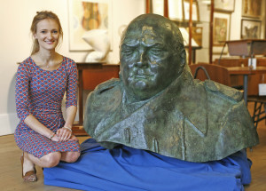 Bronze bust of Sir Winston Churchill