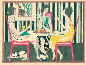 Takehisa Yumeji (1884–1934) Preparatory watercolour for Cool Outfit (Mitsukoshi department store) 1925 env., 31.7 x 23.8cm (121⁄2 x 93⁄4in.) © Nihon no Hanga, Amsterdam