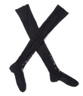 pair of unworn black, Suffragette stockings