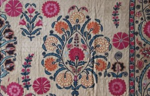 An early C19th Uzbekistan suzani (dowry embroidery)