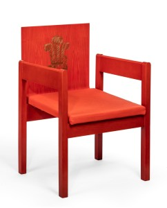 Prince of Wales Investiture chair by Snowden, 1969