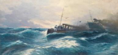 Vasilios Chatzis, Seascape/The destroyer Thyella