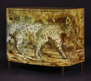 'Leopard' chest of drawers by Piero Fornasetti