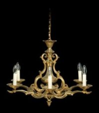 Louis XIV brass chandelier