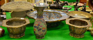 collection of 18th century Chinese cloisonné wares