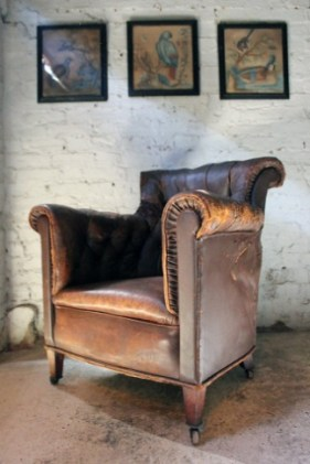 A leather armchair from Doe & Hope