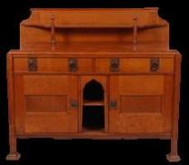 oak ledgeback sideboard by The Bath Cabinet Makers