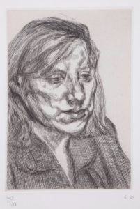 Lucien Freud etching