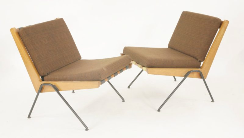 A pair of 'Chevron' chairs, designed by Robin Day for Mike, in 1959