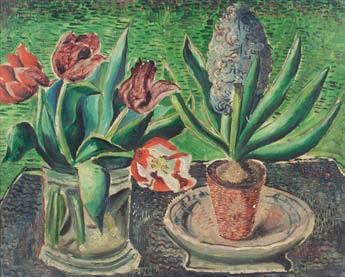 Christopher Wood (British 1901-1930) Tulips & Hyacinths,