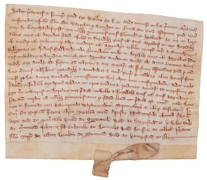 A manuscript document in Latin circa 1280