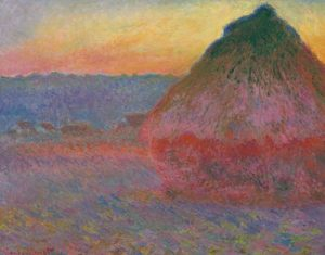 "Monet's 1891 canvas ""Meule"" or ""Grainstack"""