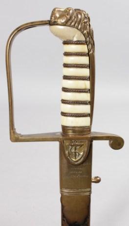 An 1805 pattern Naval officer's sword
