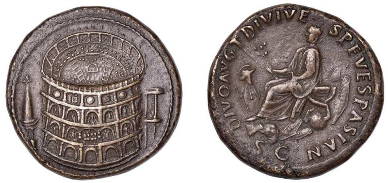 A pair of Roman coins
