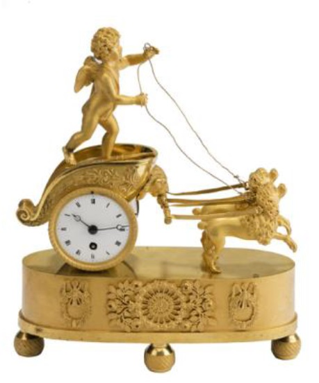 French Empire ormolu mantle timepiece