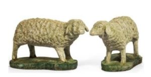 Stoneware garden sheep c1970s