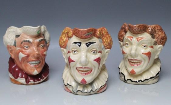Royal Doulton clown heads