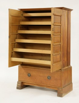 A cedar linen press by Ernest Gimson 4ft 3in (1.3m) high – sold at Sworders for £22,000. (Estimate: £3000-5000).