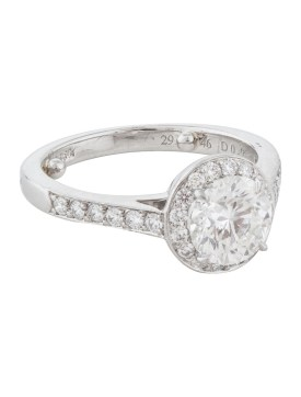 A Tiffany halo ring is a popular choice when buying vintage jewellery