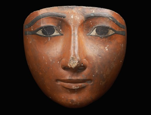 Merrin Gallery Polychrome Mask From A Sarcophagus