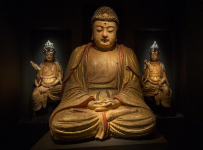 A monumental seated Buddha, China, late Yuan/early Ming dynasty, 14th -century