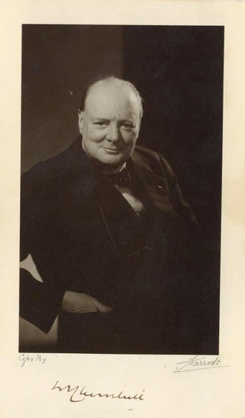 Vintage photo of Winston Churchill