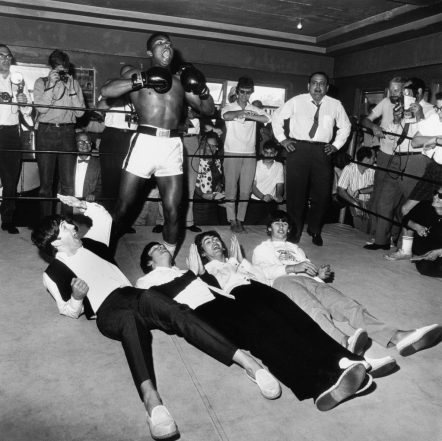 The Beatles meeting with Cassius Clay (Muhammad Ali)