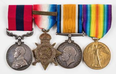 A selection of military medals