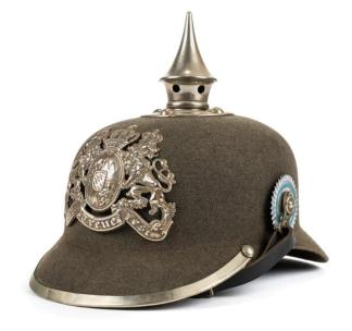 German First World War pickelhaube helmet