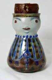 German salt-glazed candle holder designed by Elfrede Balzar-Kopp (1904-1983). From John Newton Antiques.