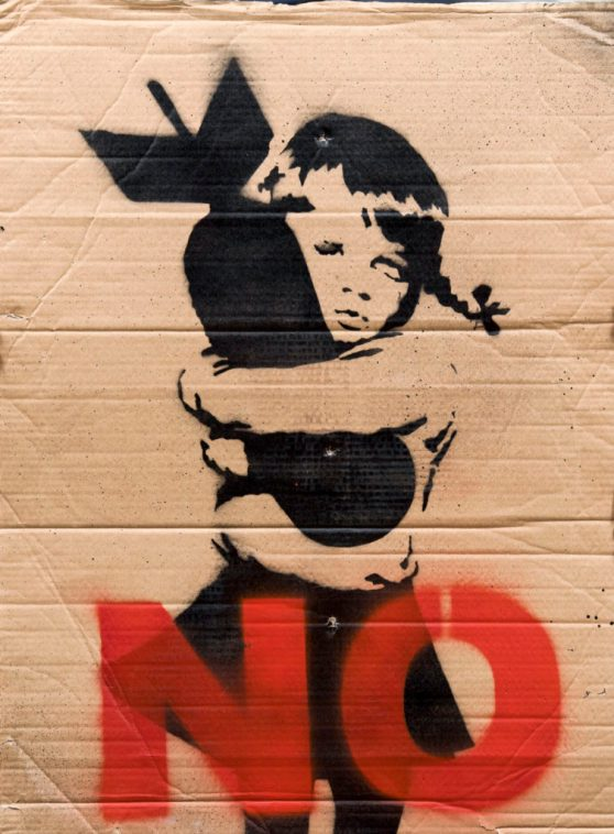 Banksy work on cardboard at Rowley's sale