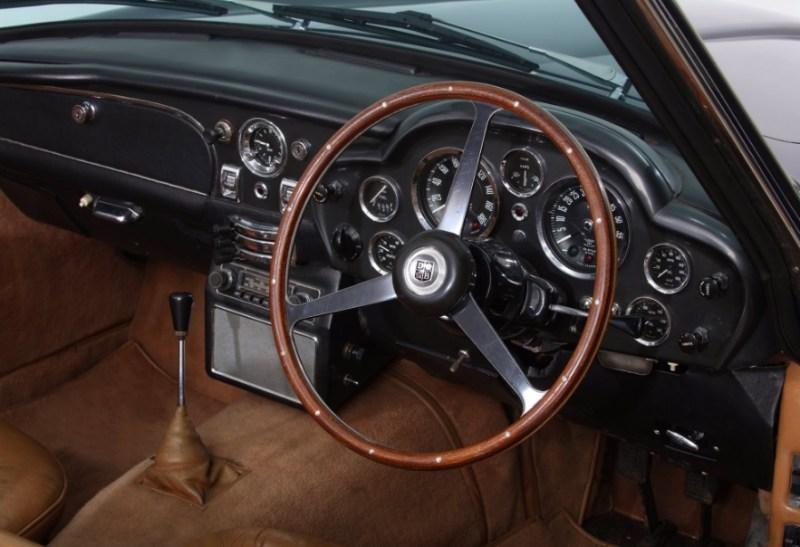 Interior of Aston Martin