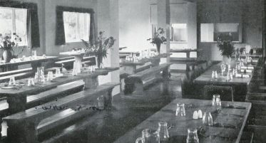 Robert 'Mouseman' Thompson dining hall tables and benches
