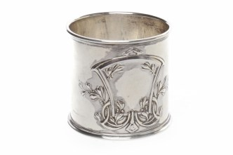 Antique Russian silver napkin ring
