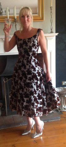 Caroline Hawley in vintage dress