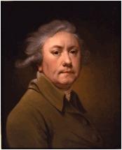 self-portrait of 18th Century British artist Joseph Wright of Derby