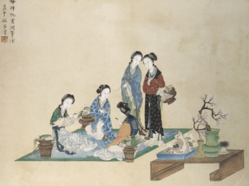 Japanese silk painting