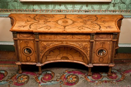The Diana and Minerva commode by Thomas Chippendale, with concave centre, two cupboards and three drawers credit Harewood House Trust