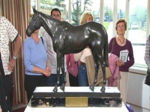 A bronze racehorse by Munnings