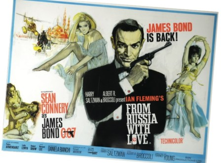 Collectors buying vintage posters seek out James Bond films like From Russia With Love