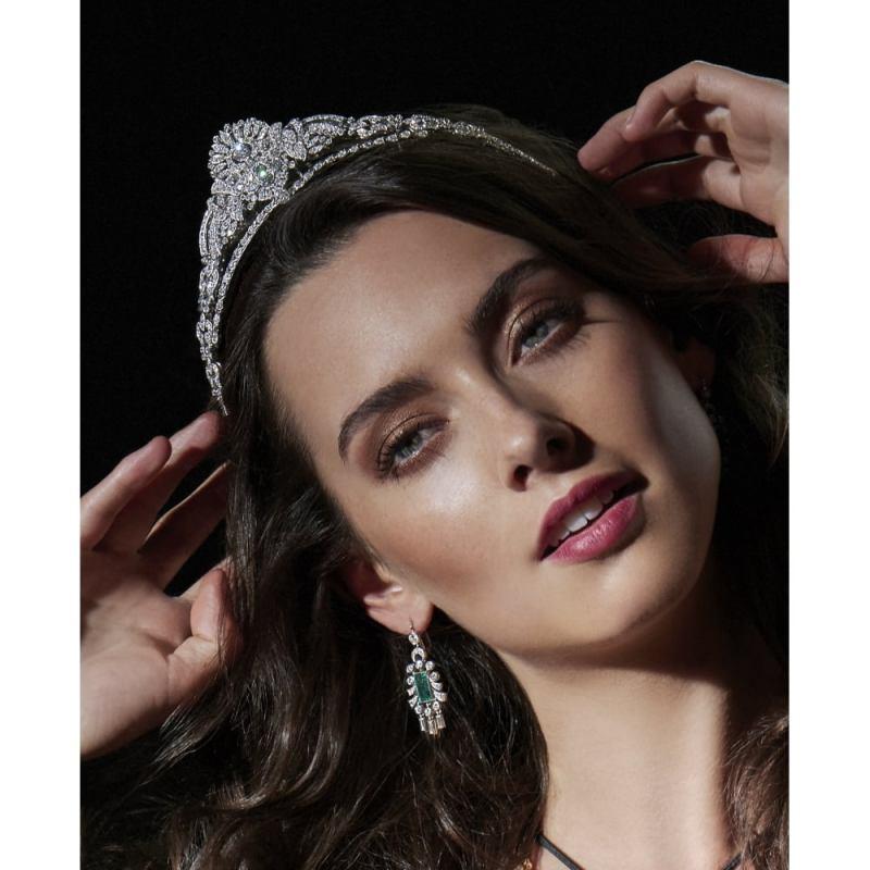 A tiara similar to that of Princess Kate's available at Susannah Lovis