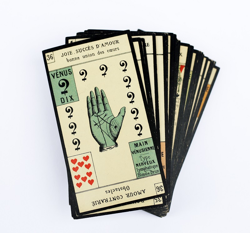 antique palm reading cards