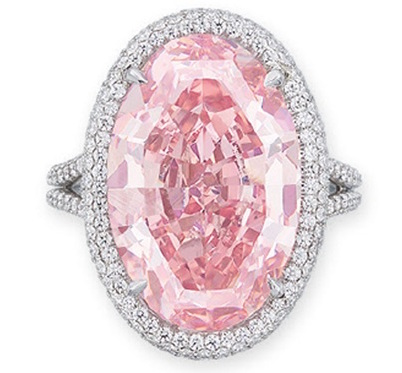a rare coloured pink diamond