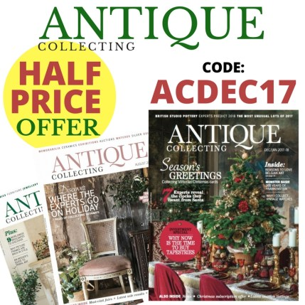 Half price subscription offer to Antique Collecting