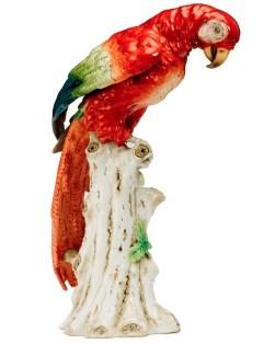 antique porcelain parrot