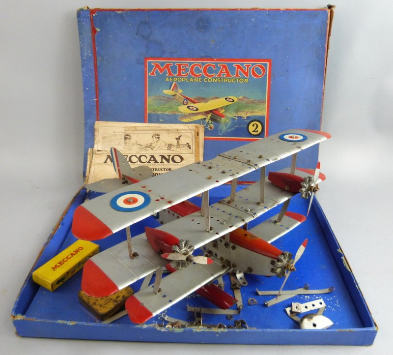 a Meccano tri-plane with box and a leaflet, is going under the hammer with an estimate of between £60 and £100