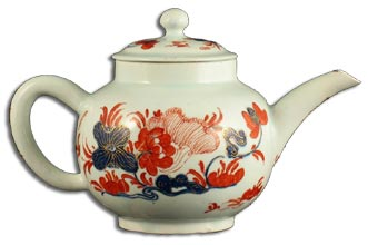 Bow porcelain teapot