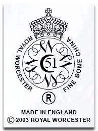Royal Worcester Marks & Dating Worcester Porcelain