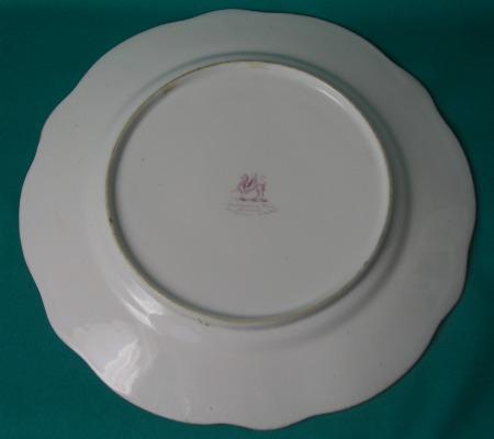 A Rockingham Porcelain Dessert Plate c1835